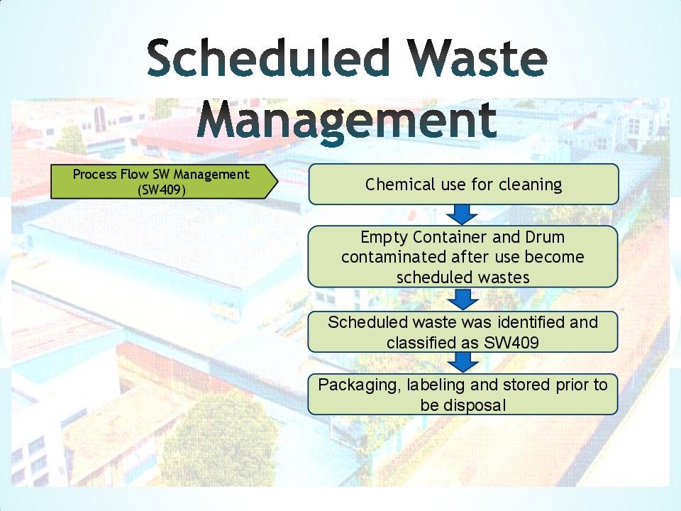 Schedule waste management 10