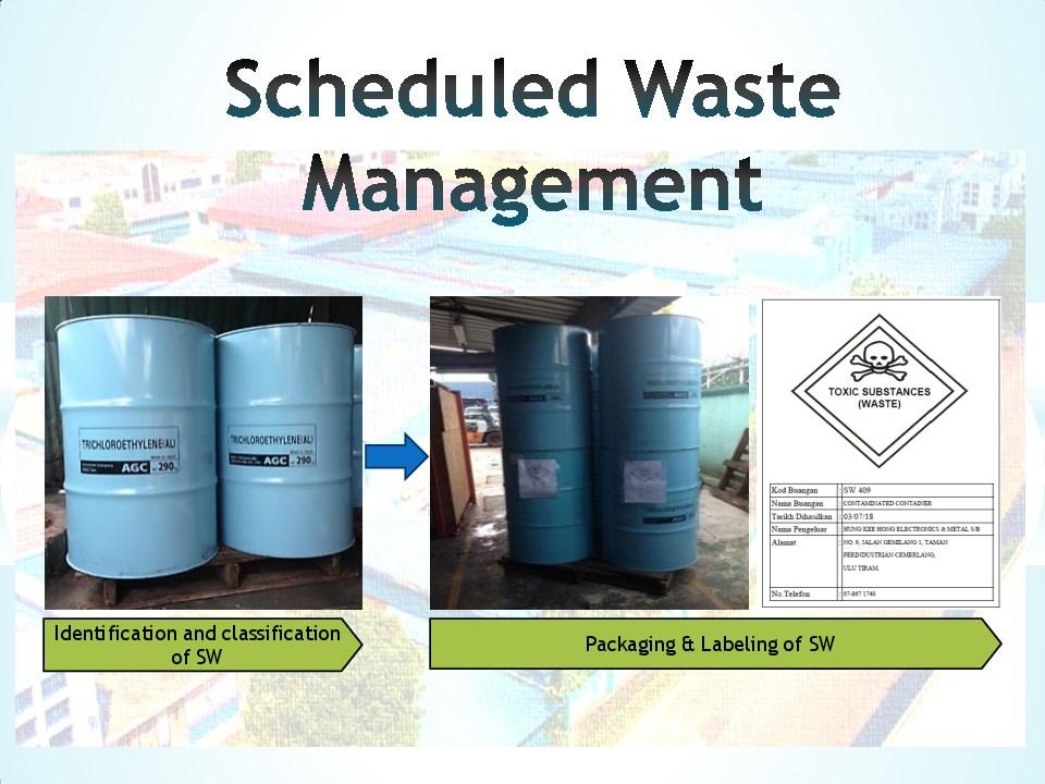 Schedule waste management 11