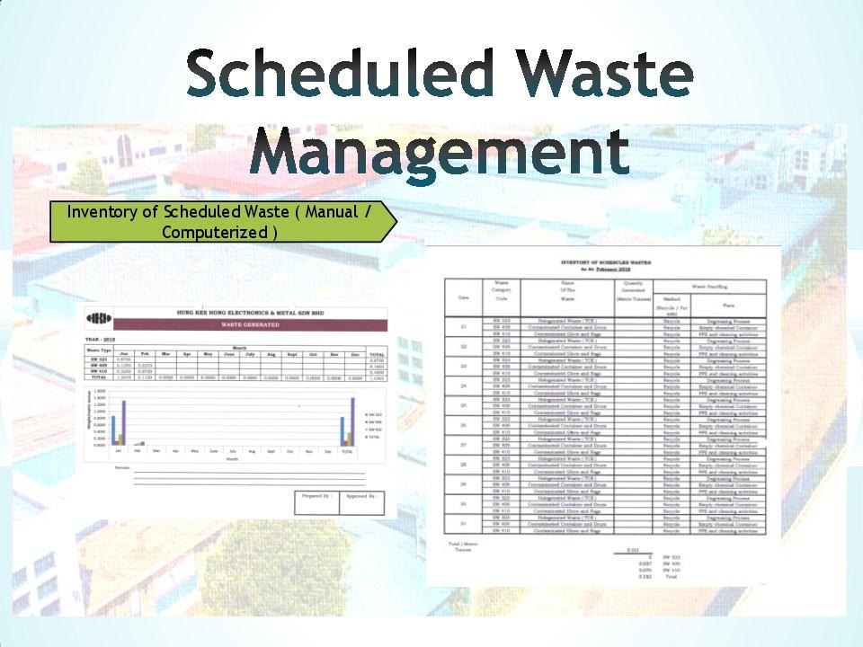 Schedule waste management 13
