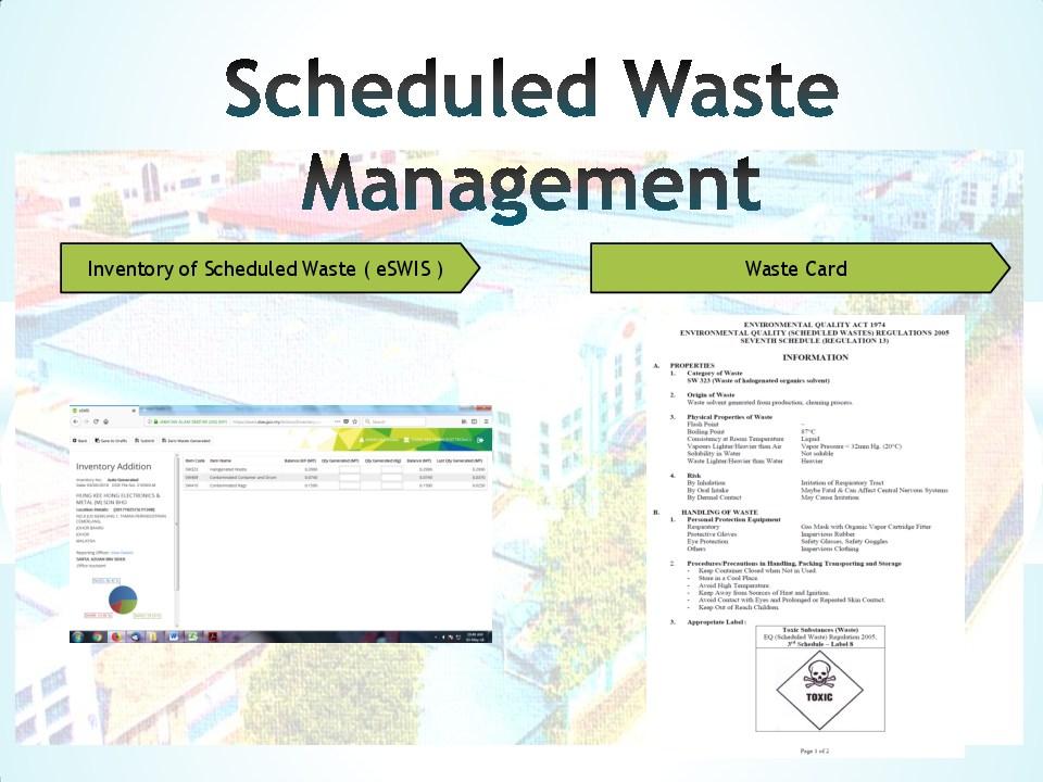 Schedule waste management 14