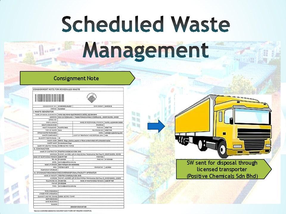 Schedule waste management 15