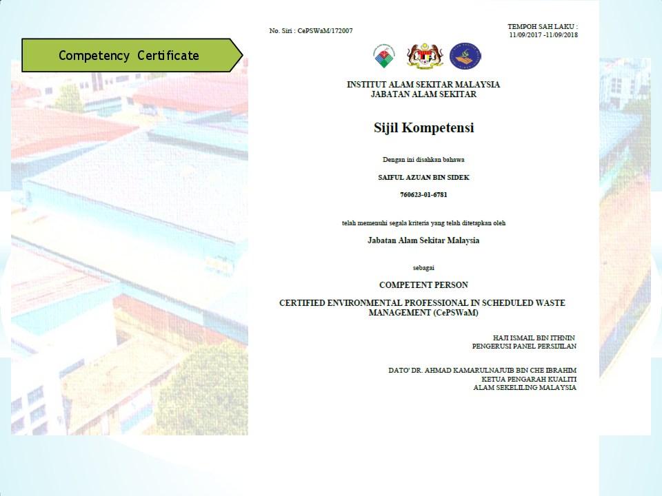 Schedule waste management 18