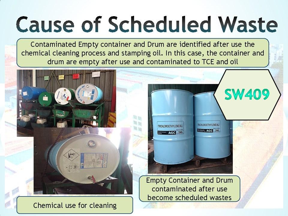 Schedule waste management 4