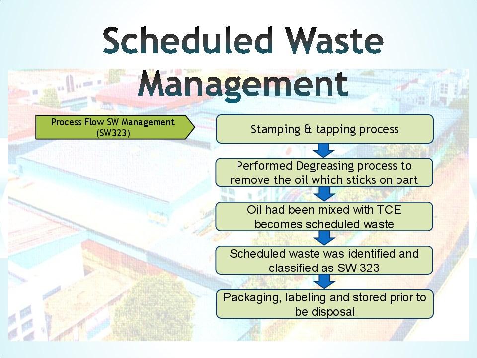 Schedule waste management 6