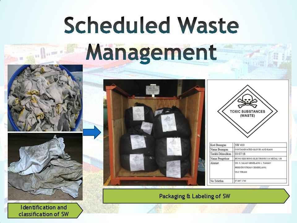 Schedule waste management 9